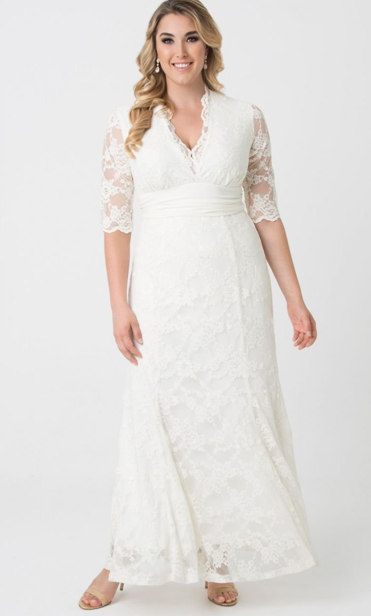 lane bryant wedding dresses lange jurk siren ecru 5390
