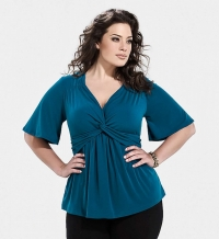 Abby Twist Top Teal
