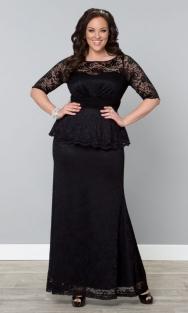 Lange kanten jurk astoria zwart