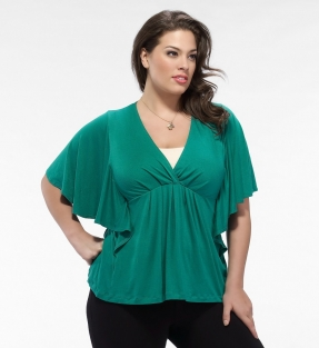 Ellis Ruffle Top groen