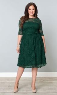 Home nieuw kanten jurk luna groen