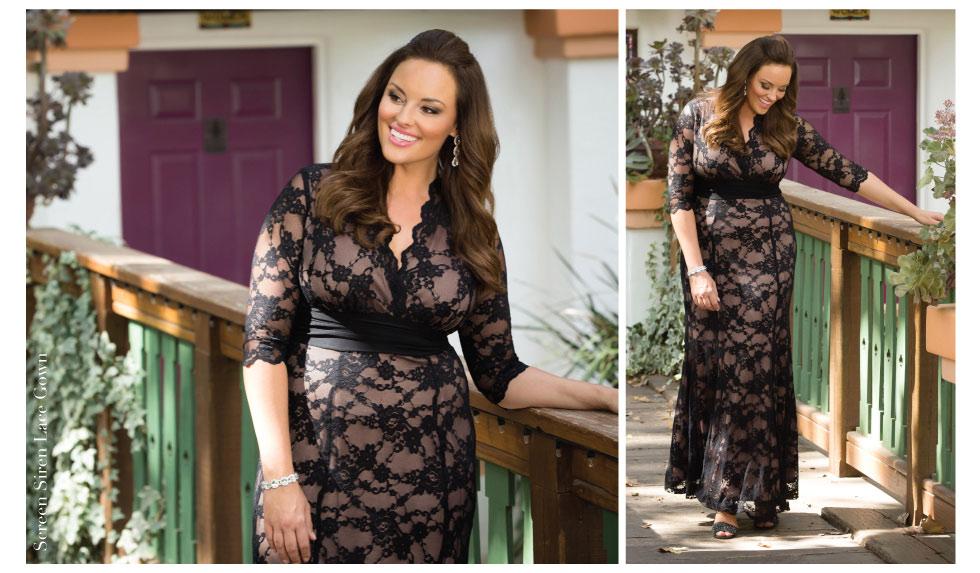 Zwarte jurk met kant maat 48